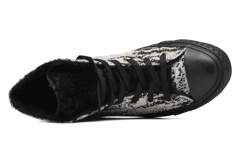 Baskets Converse Ctas Winter Knit+Fur Hi Noir vue gauche