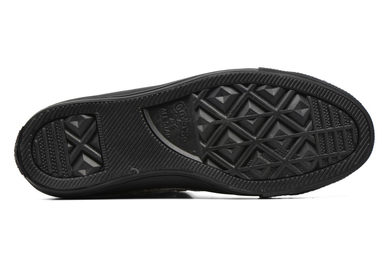 Baskets Converse Ctas Winter Knit+Fur Hi Noir vue haut