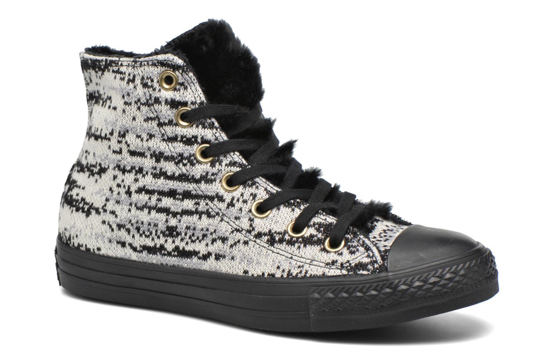 Baskets Converse Ctas Winter Knit+Fur Hi Noir vue détail/paire