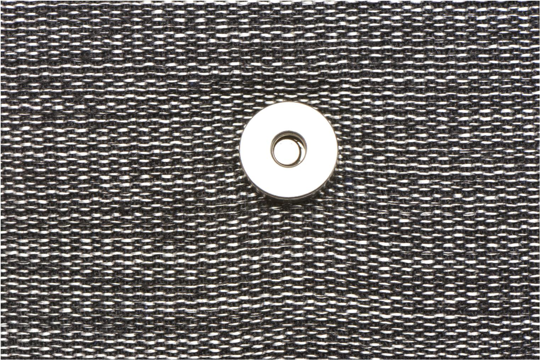 AMELINE Porté travers cuir et textile Black