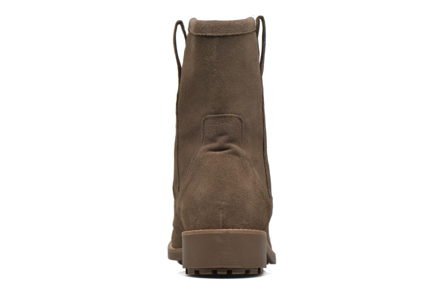 Ankle boots Aigle Chanteside Low Brown view from the right