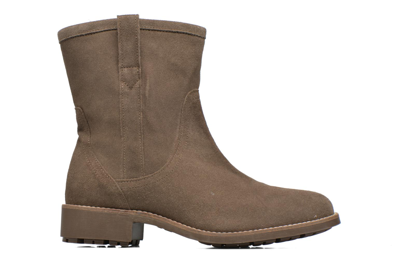 Ankle boots Aigle Chanteside Low Brown back view