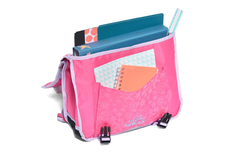 School bags Disney Cartable 38cm Reine des neiges 2 Pink back view