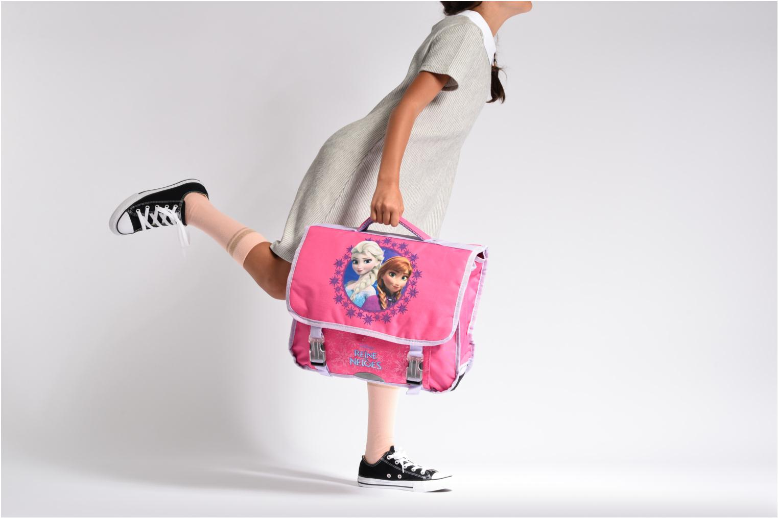 School bags Disney Cartable 38cm Reine des neiges 2 Pink view from above