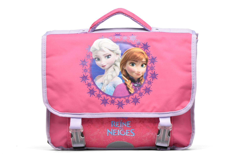 School bags Disney Cartable 38cm Reine des neiges 2 Pink detailed view/ Pair view