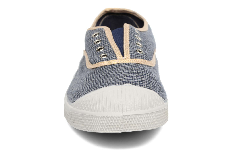 Baskets Bensimon Tennis Elly Bluecheks Bleu vue portées chaussures