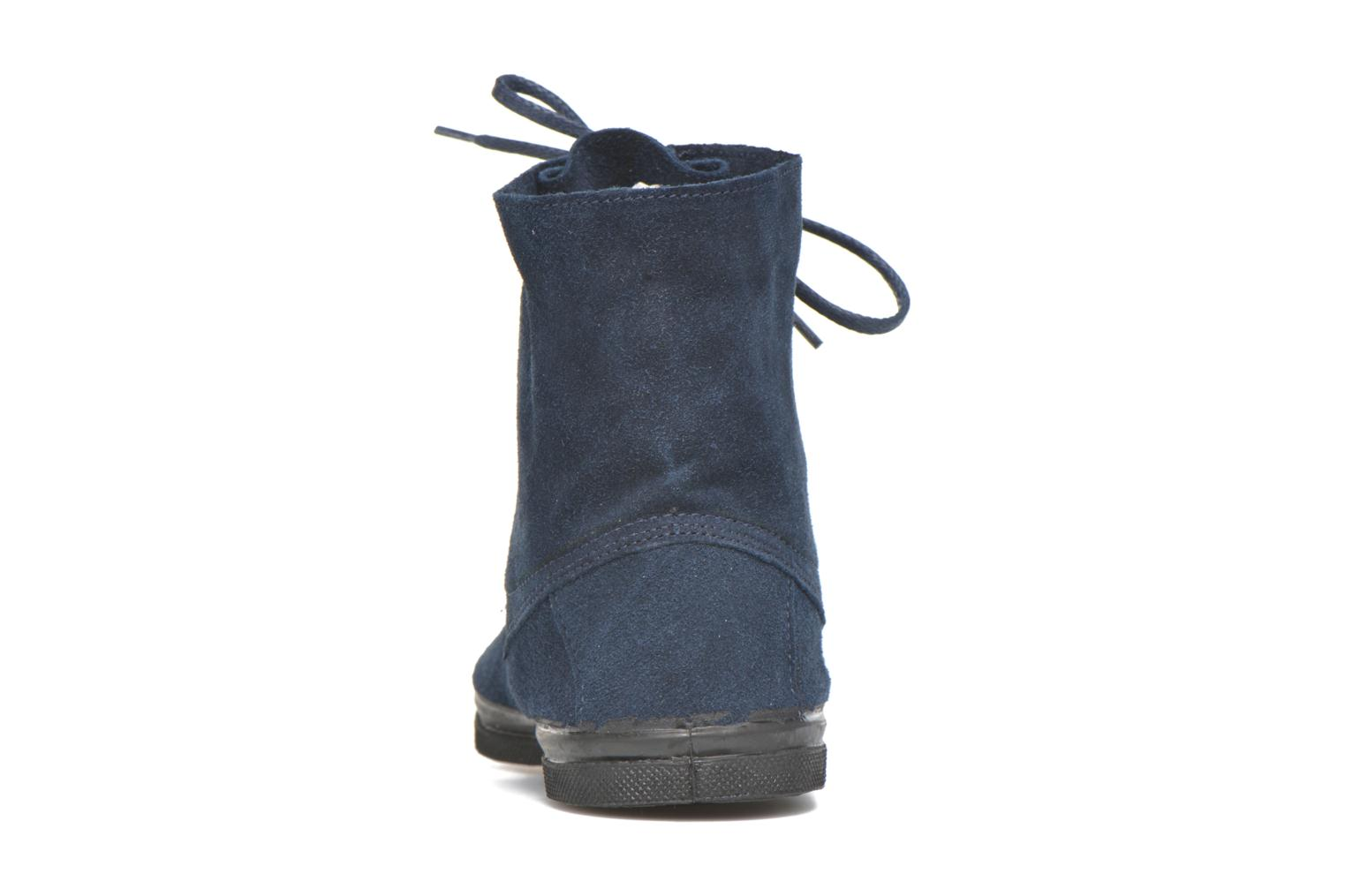 Trainers Bensimon Boots Dakota Blue view from the right
