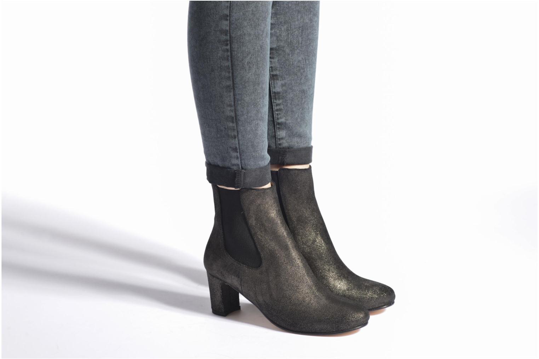 Botines  Bensimon Boots talon élastique Plateado vista de abajo