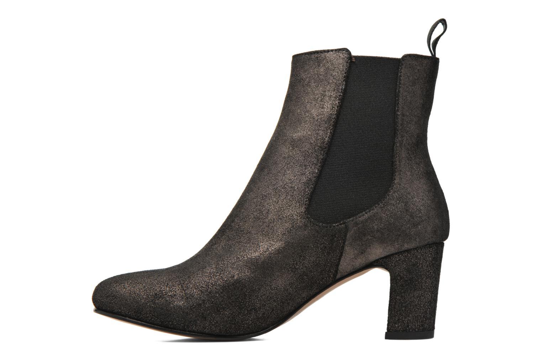Ankle boots Bensimon Boots talon élastique Silver front view