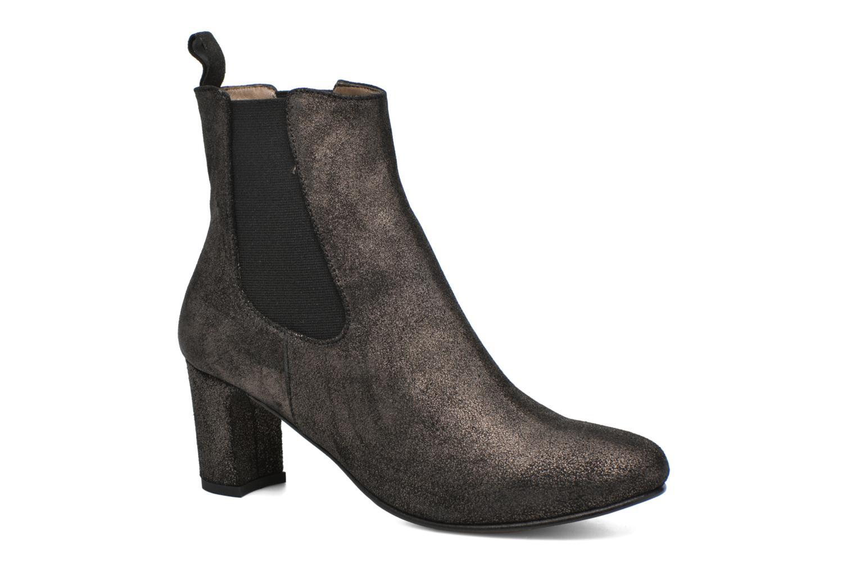 Boots talon élastique gris métallisé