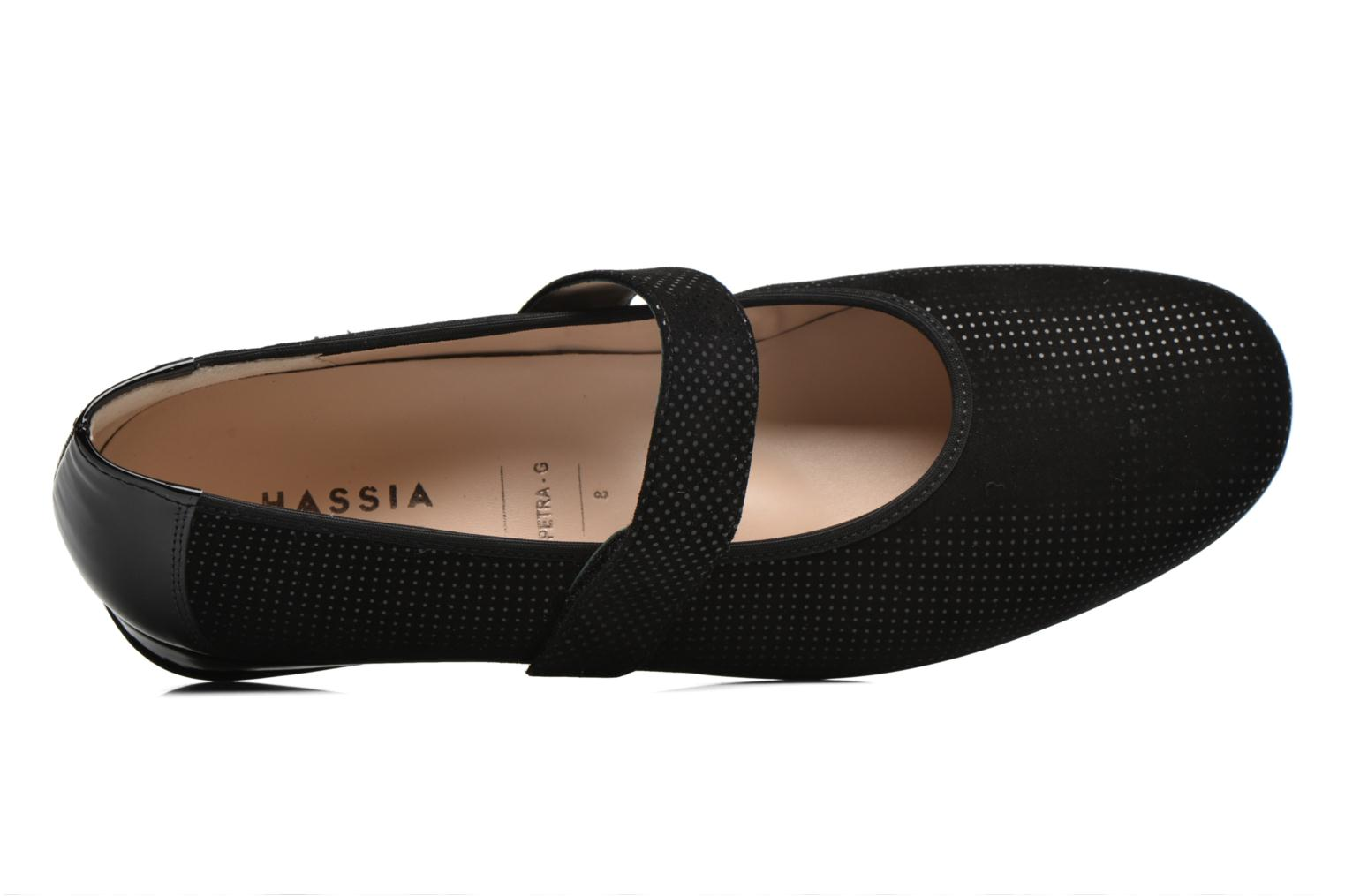 Ballet pumps Hassia Petra 1724 Black view from the left