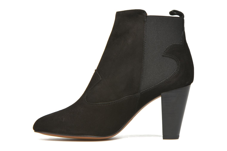Bottines et boots Heyraud Daisy Noir vue face