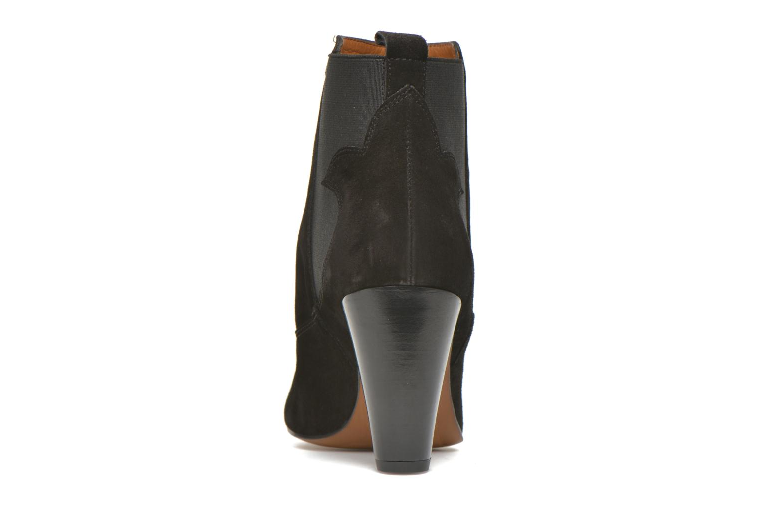 Ankle boots Heyraud Daisy Black view from the right