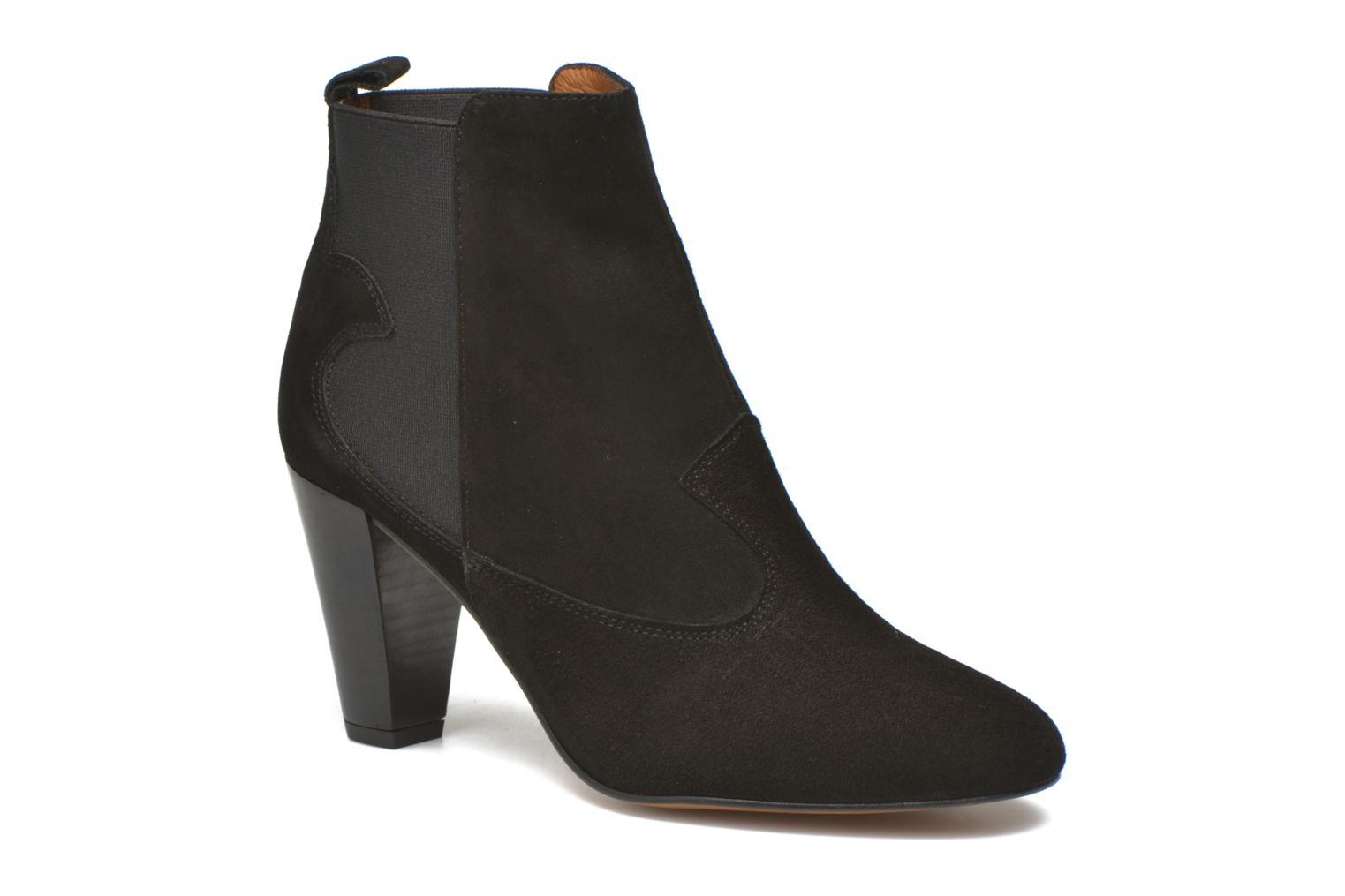 Ankle boots Heyraud Daisy Black detailed view/ Pair view