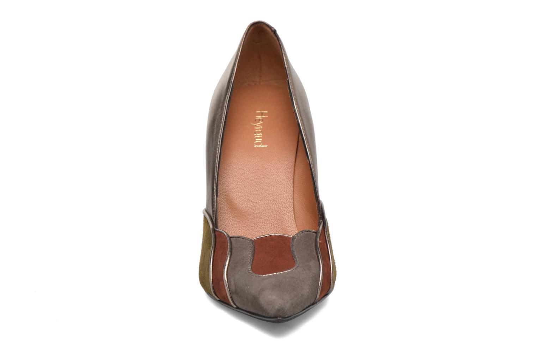 Escarpins Heyraud Dona Or et bronze vue portées chaussures