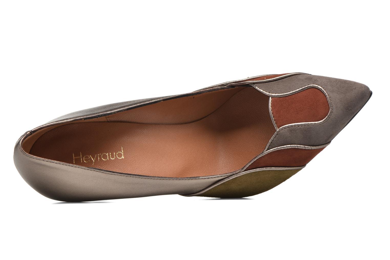 Escarpins Heyraud Dona Or et bronze vue gauche