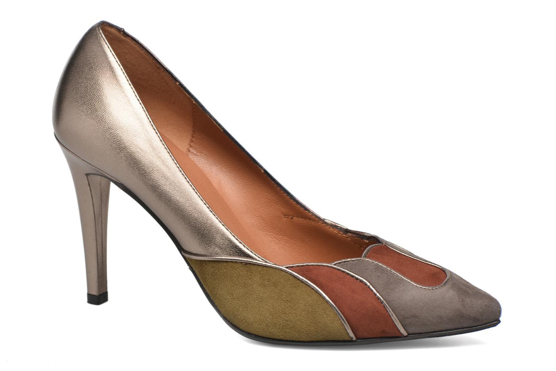 Escarpins Heyraud Dona Or et bronze vue détail/paire