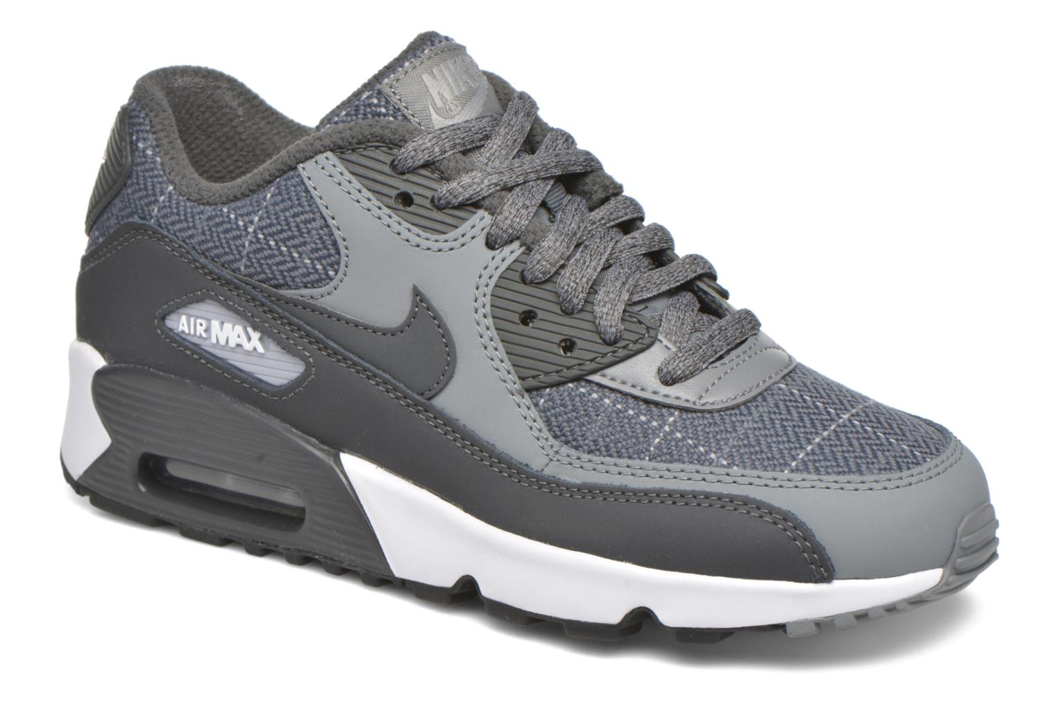 Nike Air Max 90 Se Ltr (Gs) Cool Grey/Anthracite-Wolf Grey-White