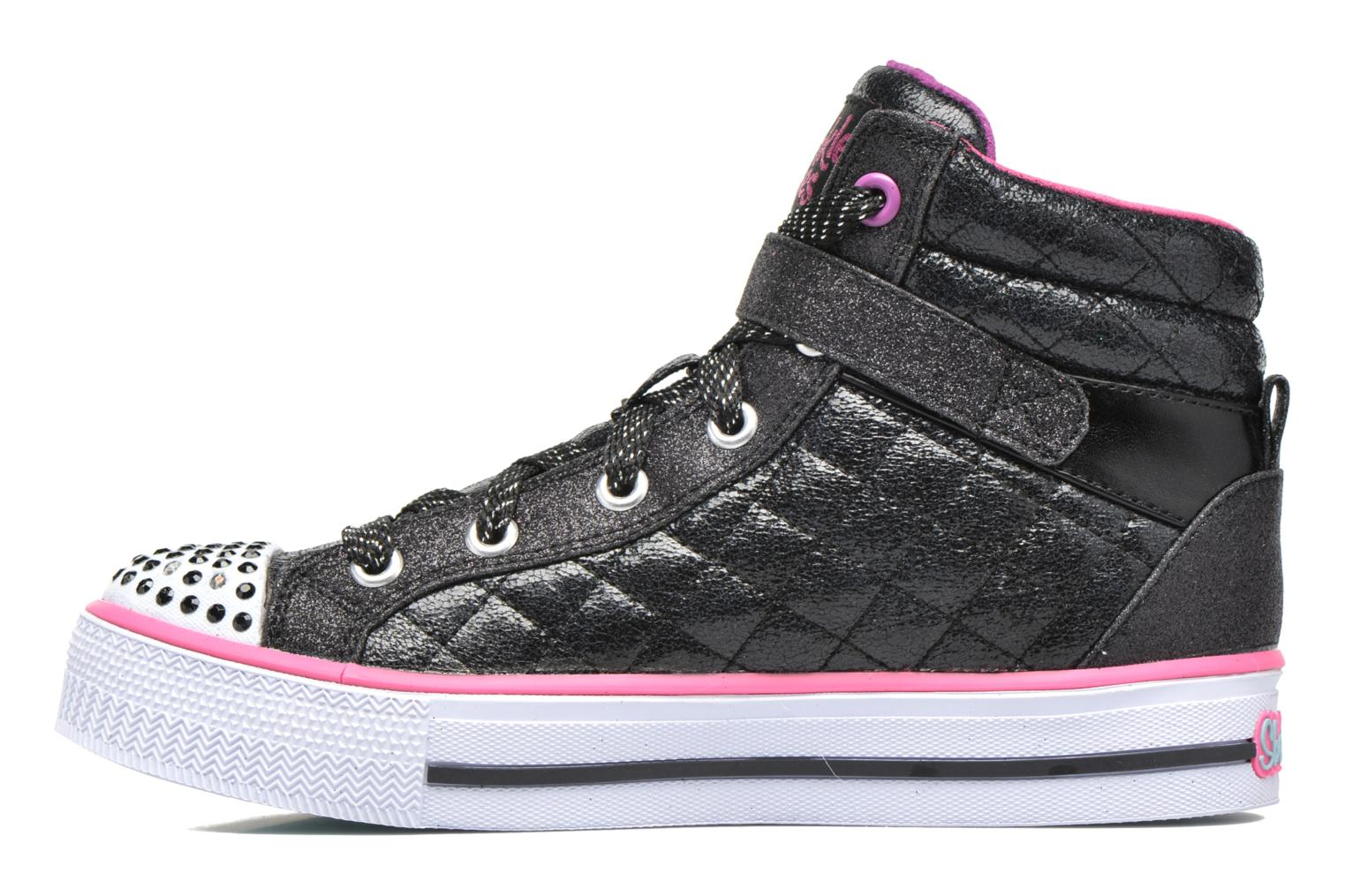 Baskets Skechers Shuffles Sweetheart Sole Noir vue face