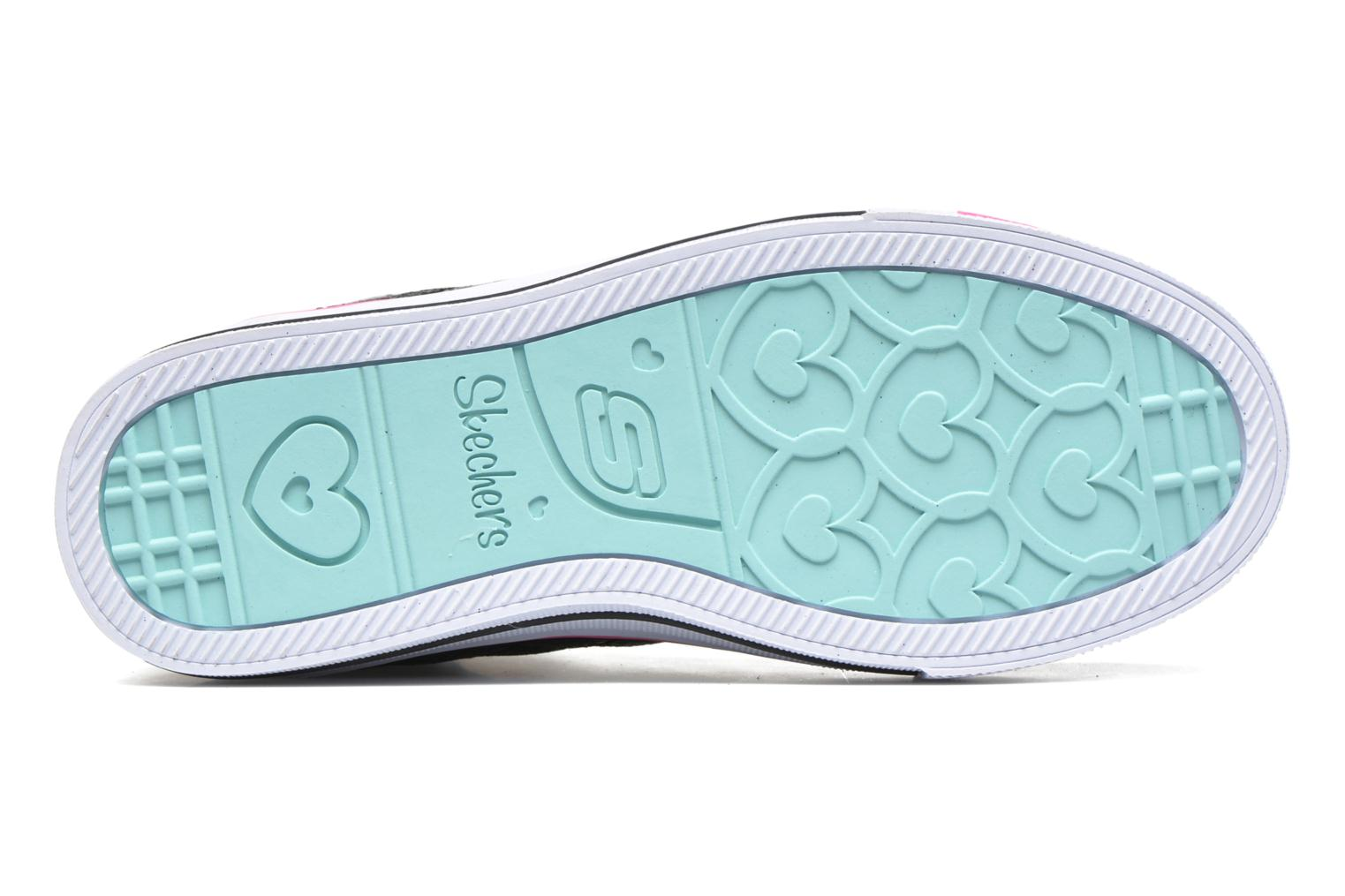 Baskets Skechers Shuffles Sweetheart Sole Noir vue haut