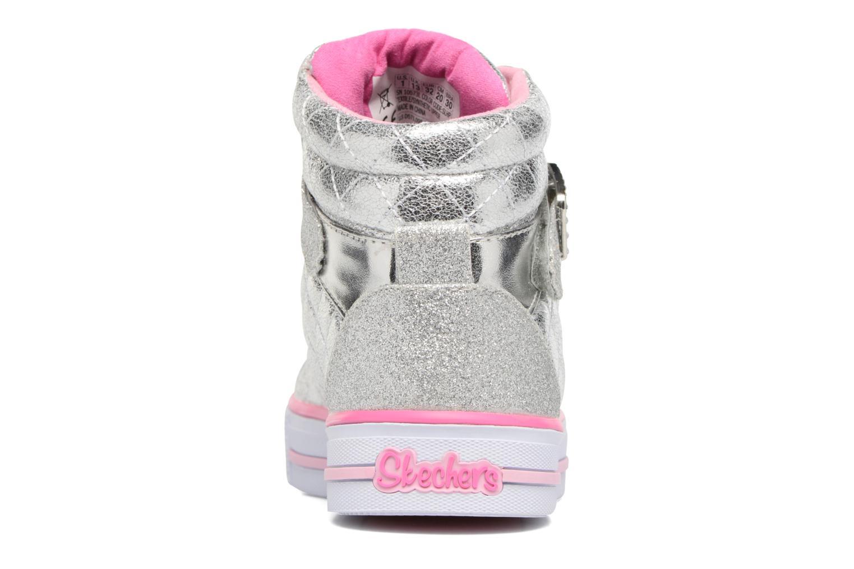 Baskets Skechers Shuffles Sweetheart Sole Argent vue droite