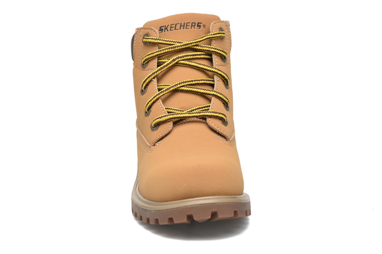 Bottines et boots Skechers Mecca Mitigate Beige vue portées chaussures