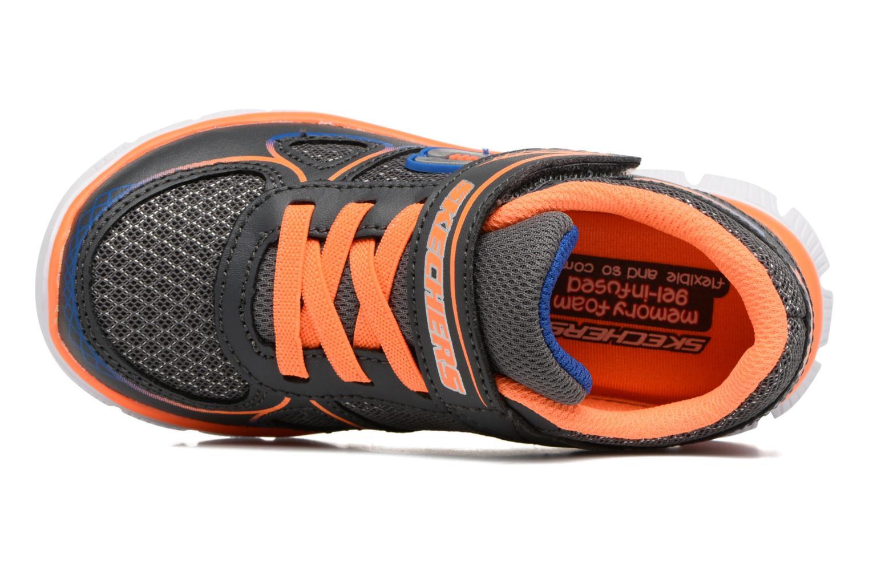 Sneaker Skechers Flex Advantage Mini Race grau ansicht von links