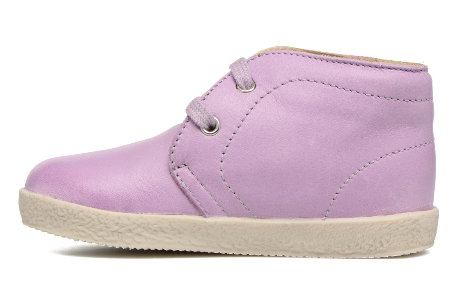 Lace-up shoes Naturino Falcotto 1195 Purple front view