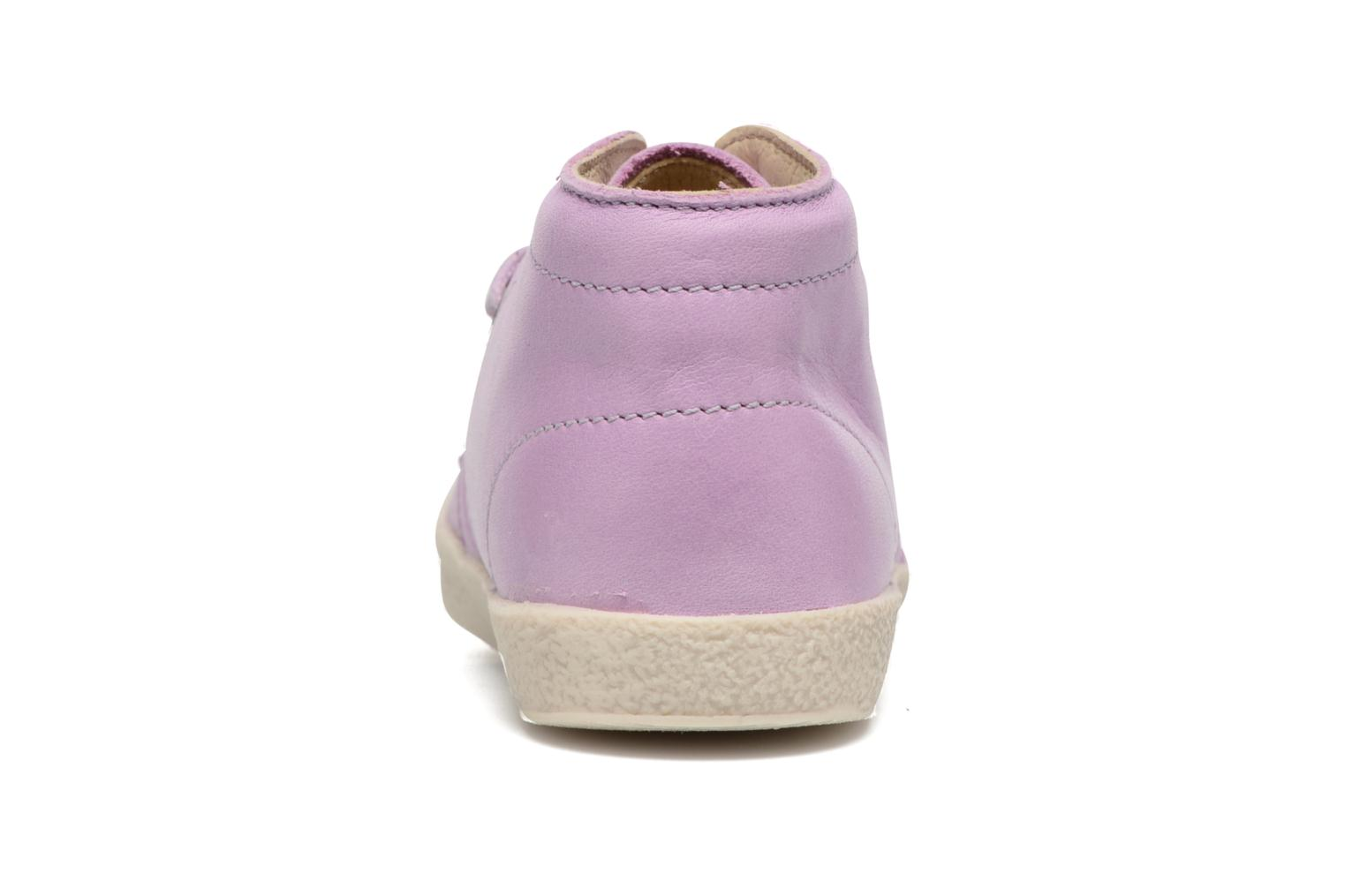 Lace-up shoes Naturino Falcotto 1195 Purple view from the right