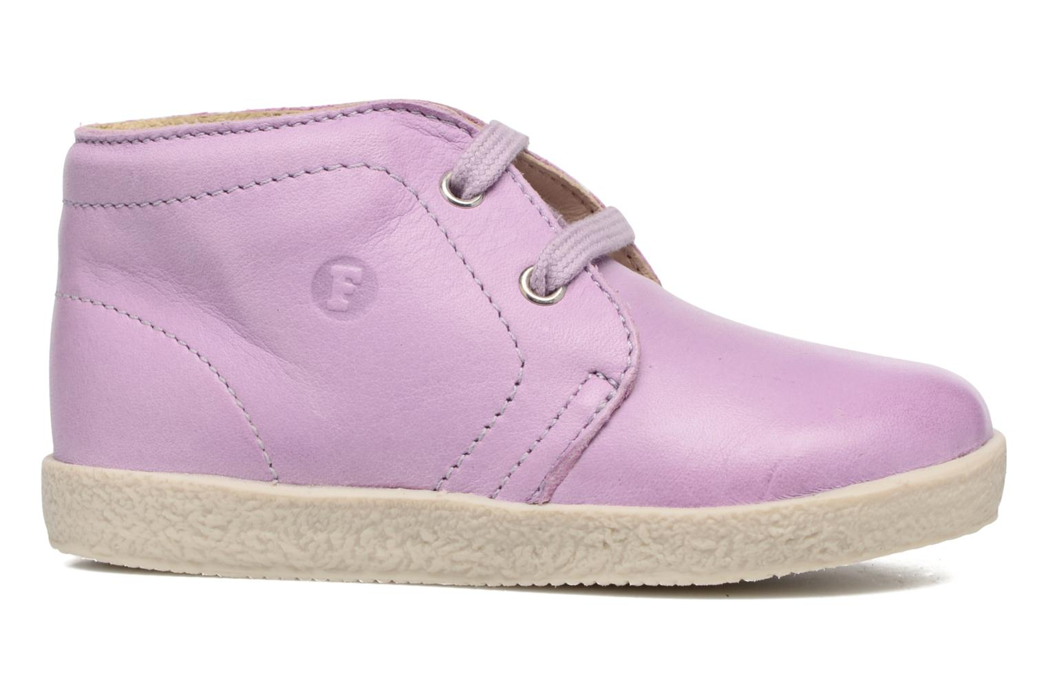 Lace-up shoes Naturino Falcotto 1195 Purple back view