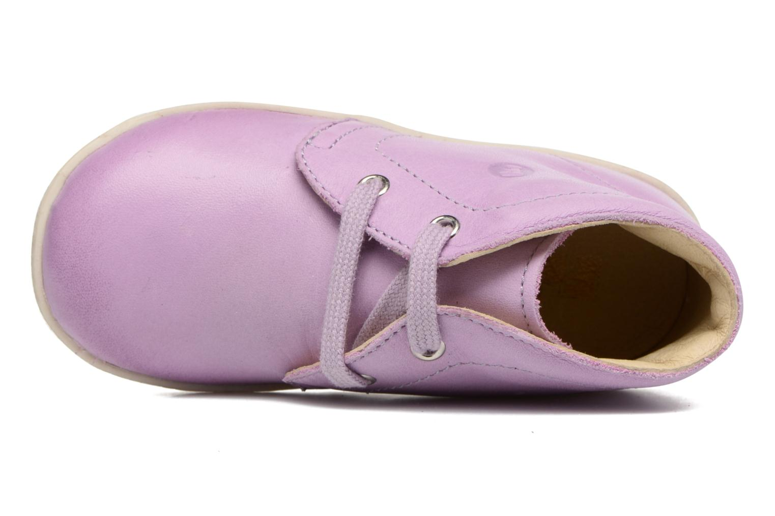 Lace-up shoes Naturino Falcotto 1195 Purple view from the left