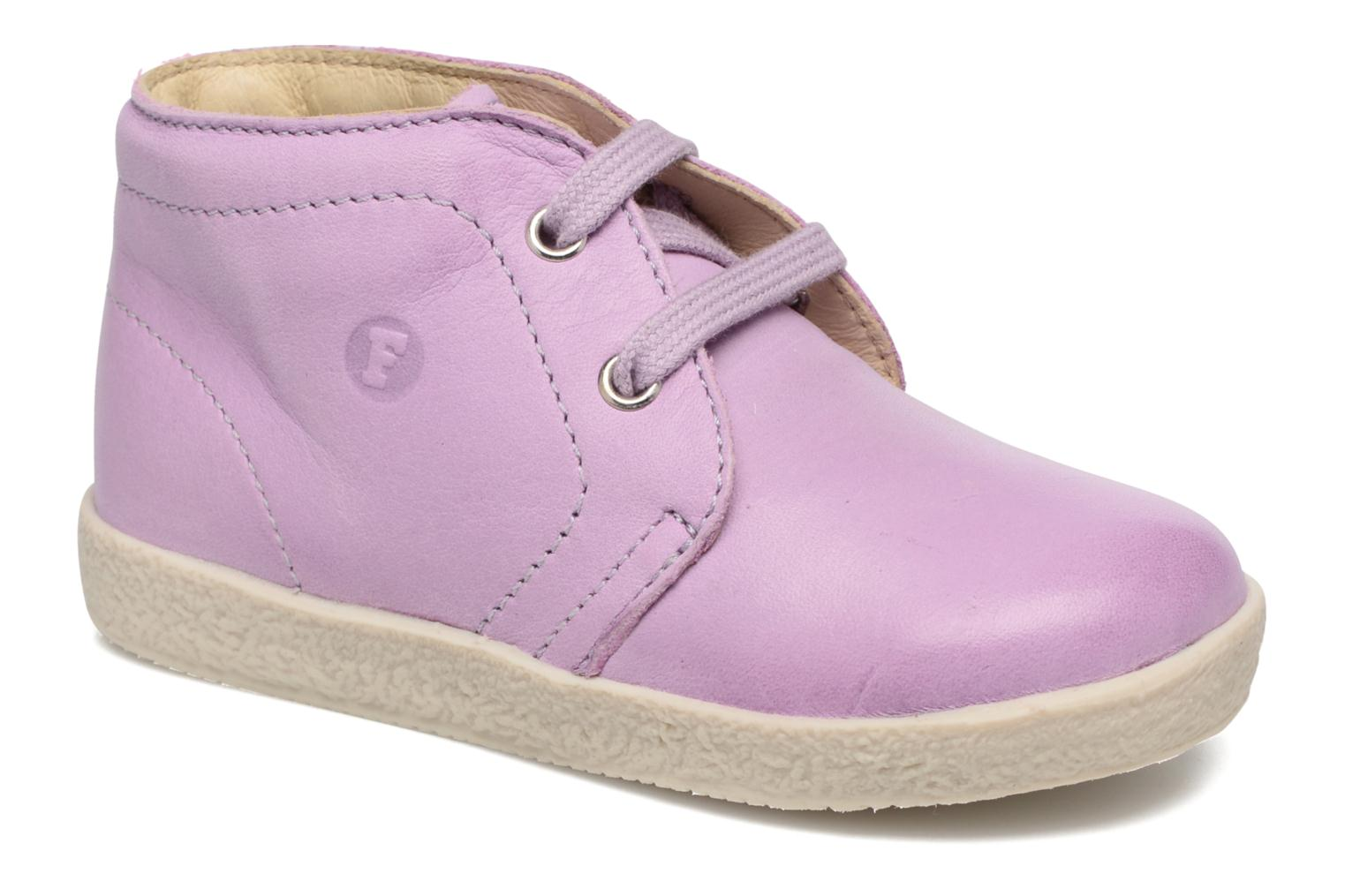 Lace-up shoes Naturino Falcotto 1195 Purple detailed view/ Pair view