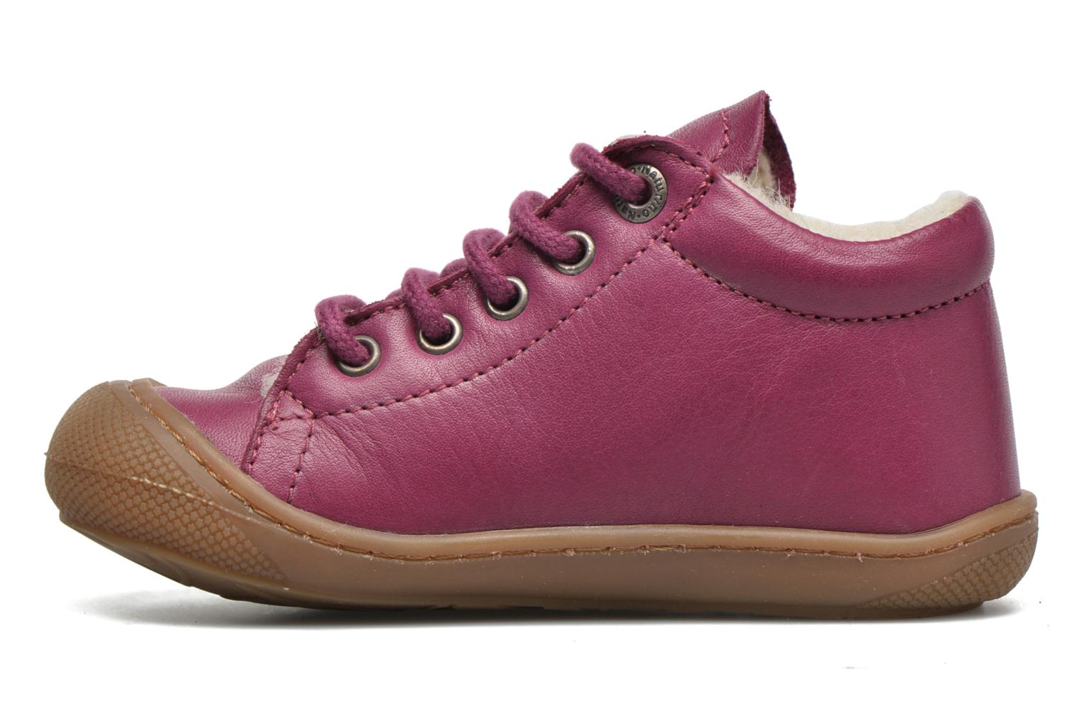 Lace-up shoes Naturino Cocoon Warm Purple front view