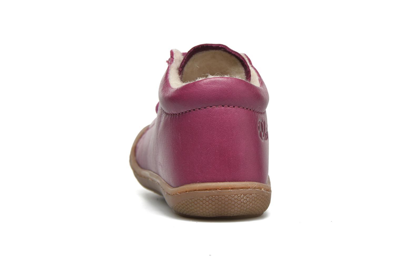 Zapatos con cordones Naturino Cocoon Warm Violeta      vista lateral derecha
