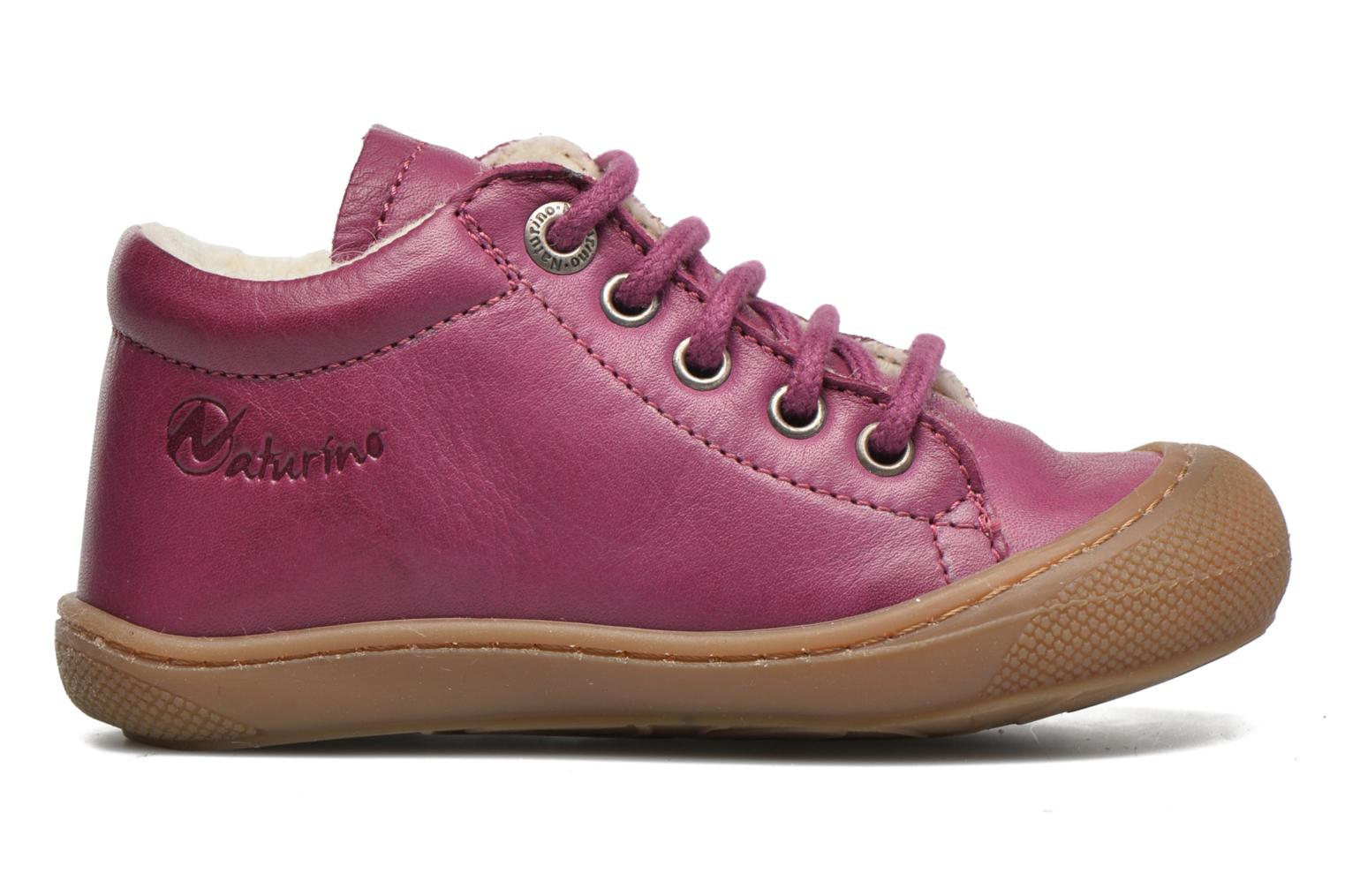 Lace-up shoes Naturino Cocoon Warm Purple back view