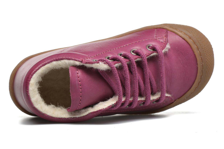 Zapatos con cordones Naturino Cocoon Warm Violeta      vista lateral izquierda