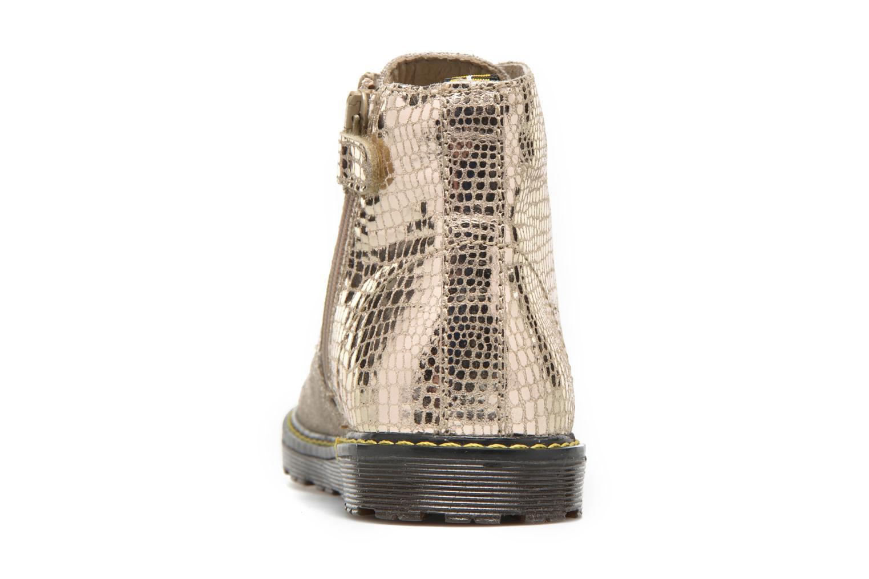 Bottines et boots Naturino Naturino 3745 Or et bronze vue droite