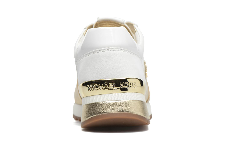 Baskets Michael Michael Kors Allie Wrap Trainer Blanc vue droite