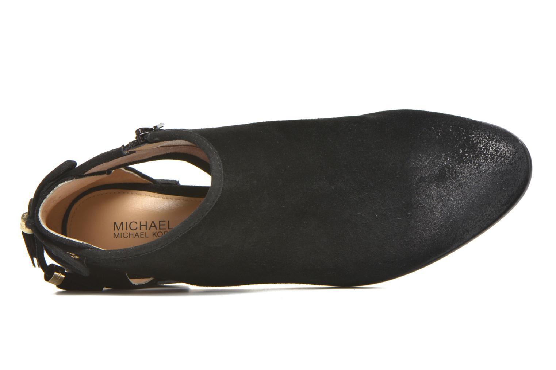 Botines  Michael Michael Kors Jennings Flat Bootie Negro vista lateral izquierda