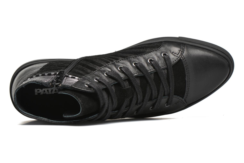 Sneaker Pataugas Yoko/O schwarz ansicht von links