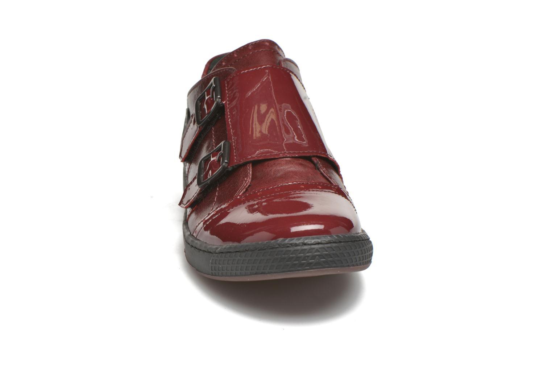 Mocassins Pataugas Jinna/V Rouge vue portées chaussures
