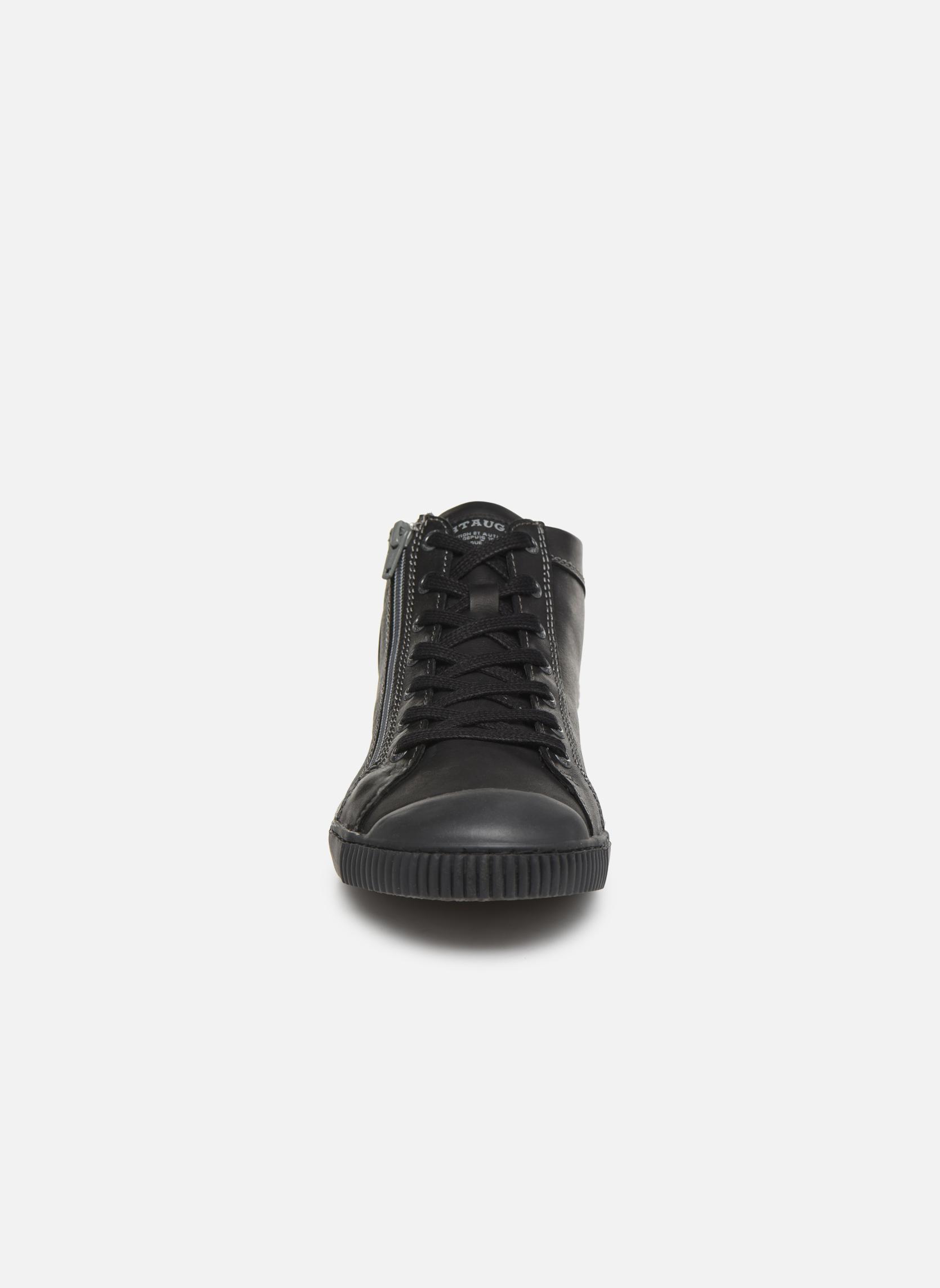 Baskets Pataugas Bumper/N Noir vue portées chaussures