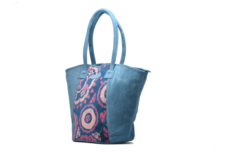 Handtaschen La Fiancée Du Mékong Calista blau schuhe getragen