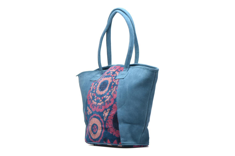 Handtaschen La Fiancée Du Mékong Calista blau ansicht von rechts