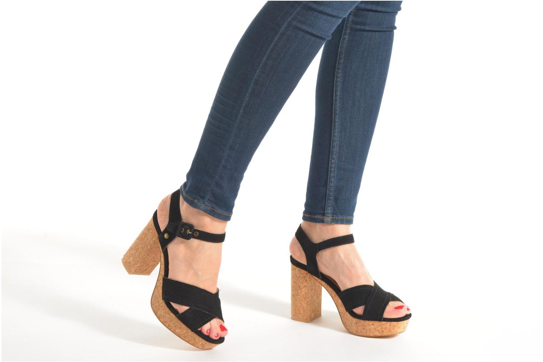 Sandales et nu-pieds Pepe jeans Grace suede Noir vue bas / vue portée sac