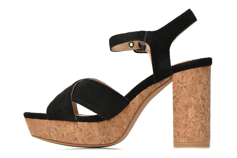 Sandales et nu-pieds Pepe jeans Grace suede Noir vue face