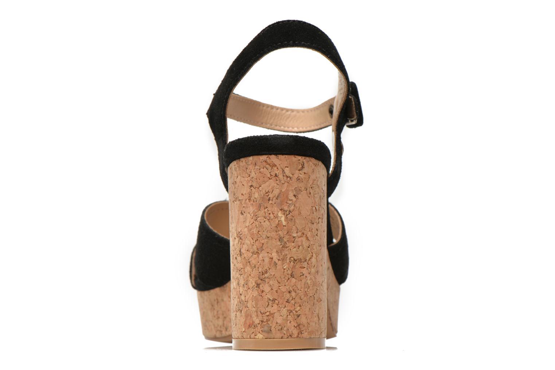 Sandales et nu-pieds Pepe jeans Grace suede Noir vue droite