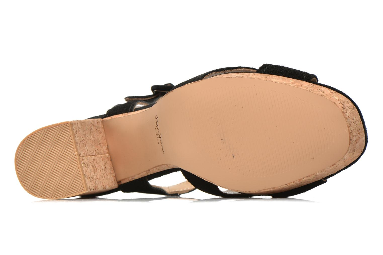 Sandales et nu-pieds Pepe jeans Grace suede Noir vue haut