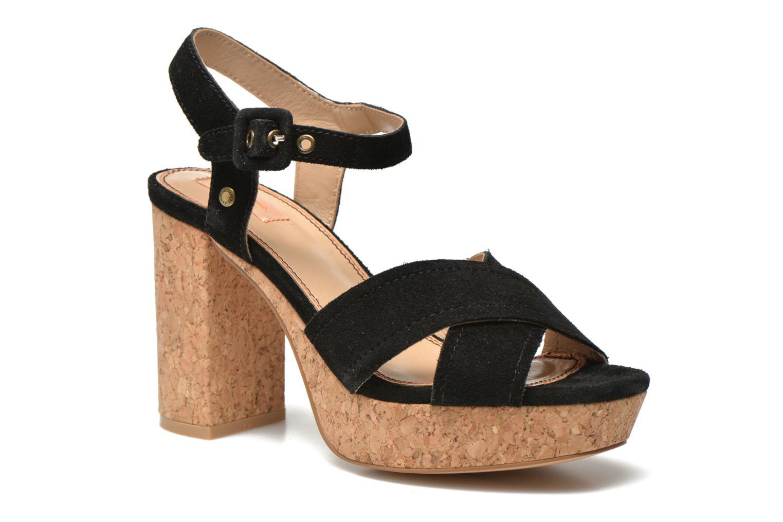 Sandales et nu-pieds Pepe jeans Grace suede Noir vue détail/paire