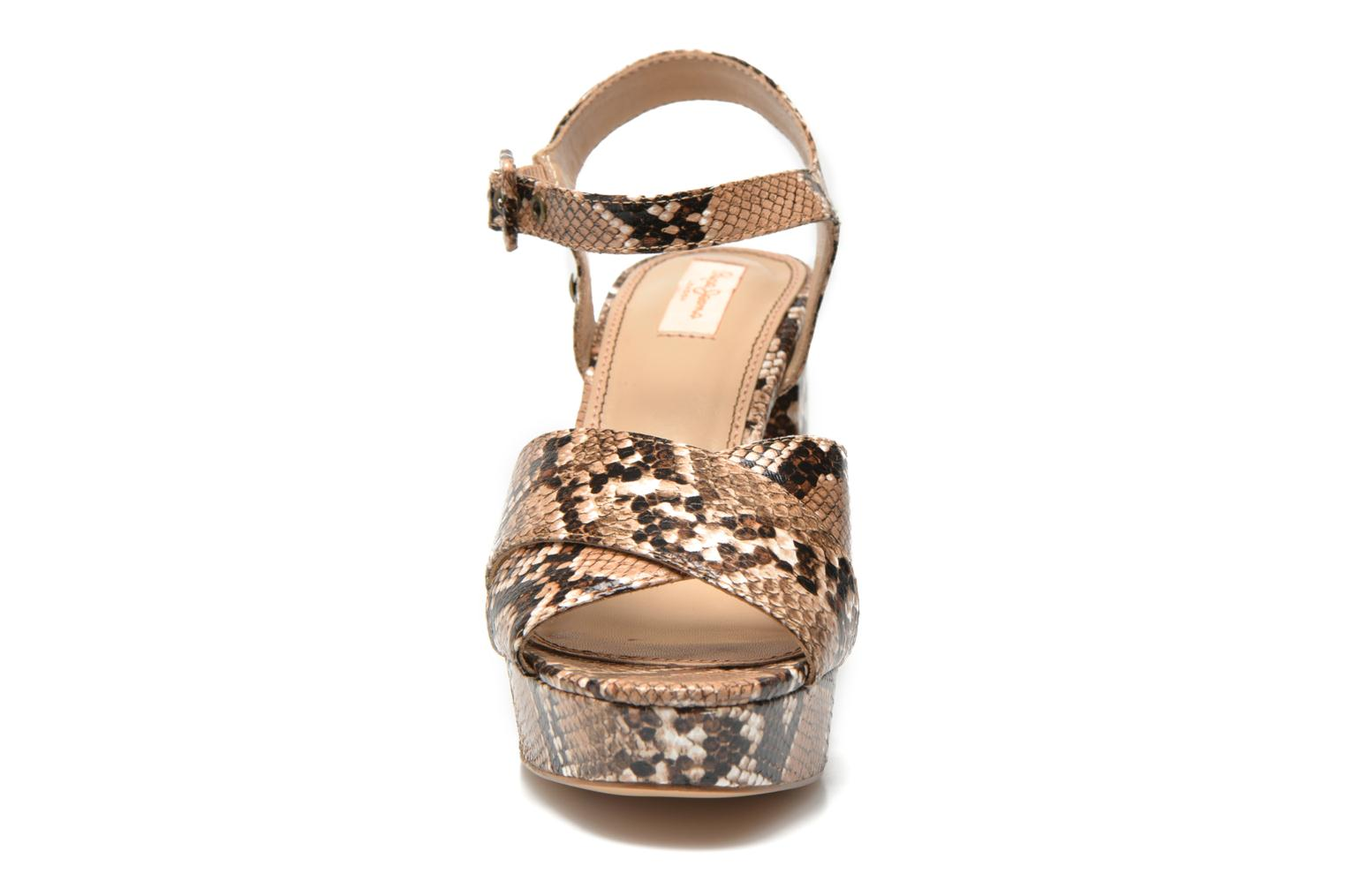 Sandals Pepe jeans Grace animal Beige model view